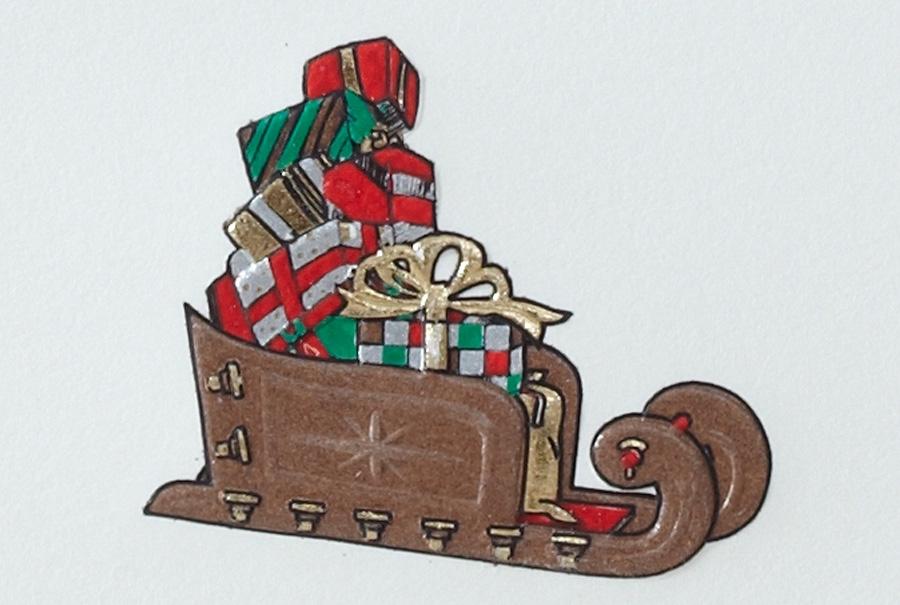 Weihnachtsschlitten mit Geschenken