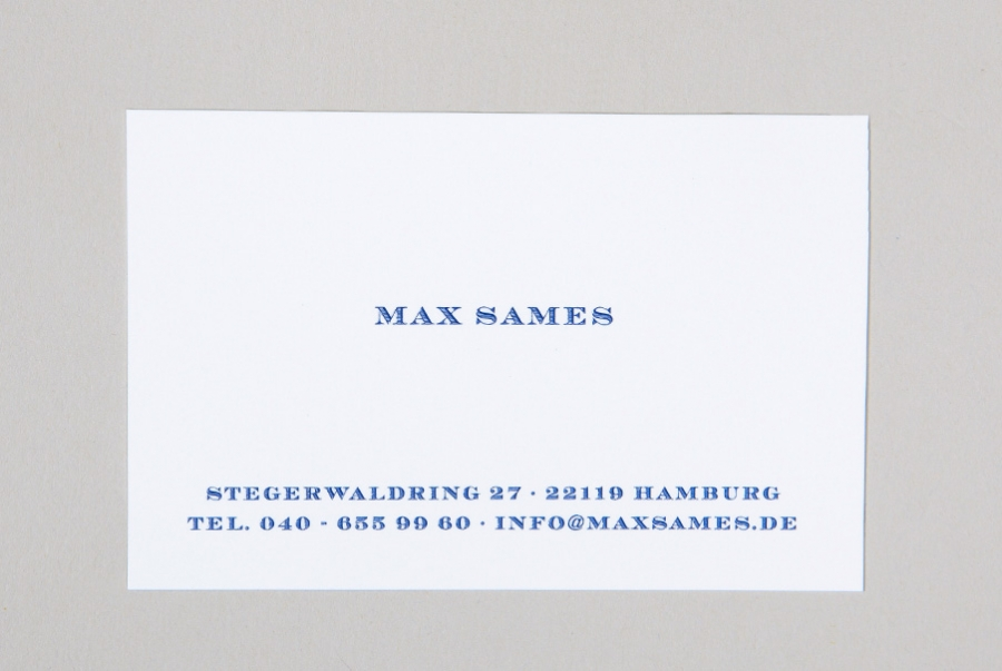 Visitenkarten Mit Name Adresse Tel Und Email Mit Letterpress