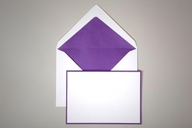 Purple Bordered Note Card